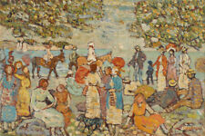 Beach Scene with Donkey - Maurice Brazil Prendergast 60cm x 40cm Art Paper Print
