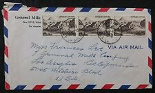 France 1949 Airmail Cover Paris to LA, California, USA