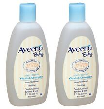 2 Pack Aveeno Baby Wash and Shampoo Lightly Scented Wash and Shampoo 8oz Each