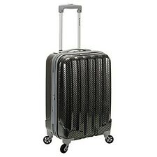 Rockland F145-FIBER Fox Luggage Melbourne 20 Inch Expandable Abs Carry On NEW