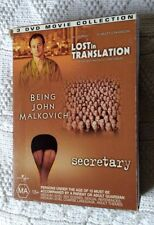 LOST IN TRANSLATION / BEING JOHN MALKOVICH / SECRETARY( 3 DVD BOX SET) REGION -4