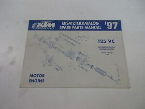 Ktm 125 Vc 1997 Catálogo de Piezas Repuesto Motor Manual 3.204.01