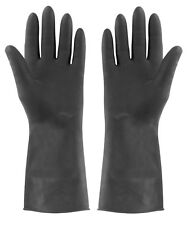 Extra Tough Heavy Duty Large Rubber Gloves, Household, Kitchen, Black, Elliott