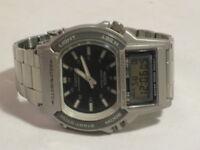 72138173340b Casio Illuminator AW-61 digital analog 100M Alarm Chronograph watch 1750 htf