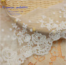 1YD,Cotton Floral Embroidery Tulle Lace edge Trim Ribbon Fabric Sewing DIY FL307