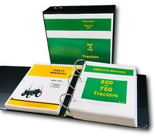 Service Manual Set For John Deere 650 750 Tractor Parts Catalog Tech Repair Book