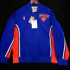100% Authentic Mitchell & Ness New York Knicks Warm Up Shirt Jacket Size 48 XL