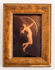 Photo ancienne encadrée, procédé de fixé sous verre, d'époque 1880/1900 environ.