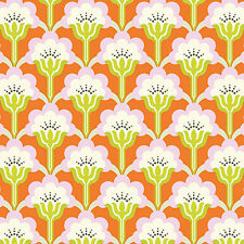 Erin McMorris PWEM087 Noteworthy Buttons Mustard Cotton Fabric By The Yard