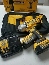 "DeWalt DCF899HP2 New 1/2"" 20V High Impact Wrench Hog Ring w/2 5.0 AH  Batteries!"
