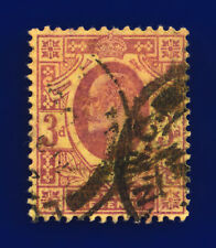 1906 SG233 3d Dull Reddish Purple/Yellow Lemon back CSP London Used Cat £85 cmma
