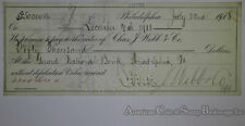 Obsolete Bank Check Charles J Webb $50000 Check PA 1918 Huge Amount RARE