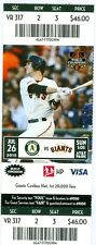2015 Giants vs Oakland A's Ticket: Tim Hudson win 15th to Beat all 30 MLB teams