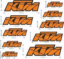 KIT 10 ADESIVI KTM VARIE MISURE RACING TEAM