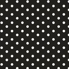 Baumwollstoff Große Punkte Schwarz METERWARE Webware Popeline Stoff Big Dots