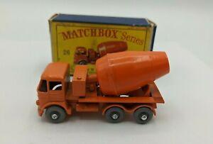 Matchbox Lesney No 26b Foden Cement Mixer.GPW. VNM In Original Box