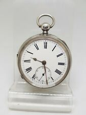 Antique solid silver gents fusee London pocket watch 1888 ref1171 ticks