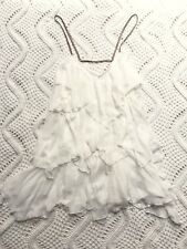 Free People Tiered Layered Dress Spaghetti Straps BOHO Chic Women's sz L E13