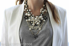 ZARA MAYBE STARS COMBINATION PEAR AND CHAIN NECKLACE
