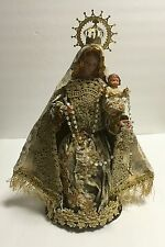 """FIGURE STATUE OUR LADY OF ROSARY CHILD JESUS 12"""""""