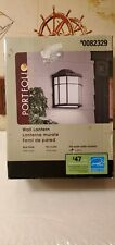 Portfolio Rust Finish Outdoor Wall Lighting Fixture Exterior Porch Lantern