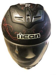 Icon Airflite Skull 18 Helmet Motorcycle Street Bike (collector's Item)