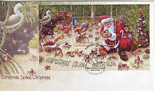 CHRISTMAS Island 2014 Christmas Souvenir/ Mini- Sheet on FDC.