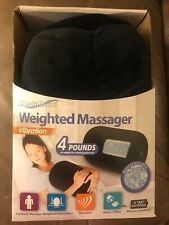 NEW~HEALTH TOUCH~VIBRATION-WEIGHTED MASSAGER~4 LBS~BLACK
