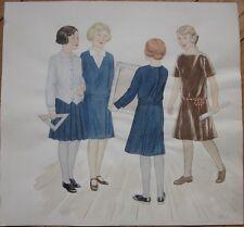Original Art/Hand-Painted Fashion/Clothing Painting: 1924 - 4