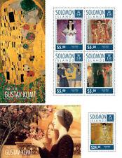 Gustav Klimt Modern Art Paintings Solomon Islands MNH stamp set