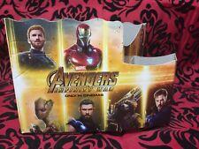 AVENGERS INFINITY WAR Movie Theater Kids Cardboard Popcorn & Drink Holder *USED*