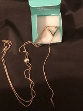 Origami Owl Gold Bolo Necklace With Triangle Locket