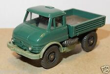 MICRO WIKING HO 1/87 MB MERCEDES UNIMOG 406 PICK-UP VERT FONCE