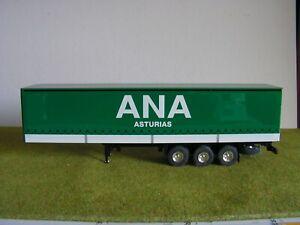 Camion ELIGOR - SEMI-REMORQUE SEMI-BACHEE - ANA ASTURIAS - 1/43 ème