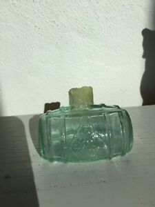 Rare Side Lying Barrel Ink with Penrest c1860s -