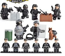 New 6 Set SWAT Army Mini Figures Arms Weapons uniforms Fit Lego Building Toy