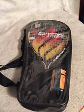 Ektelon Avenger Powerfan Fusionlite Longbody Racquetball Racquet, Balls & Case.