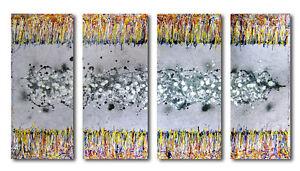 4 Gemälde bezaubernd ABSTRAKT GALERIE ART MODERN  BILDER HANDGEMALT ORIGINAL
