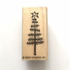 Stampin Up CHRISTMAS TREE Rubber Stamp Twig Star Thin Tree Holiday Wood Mounted