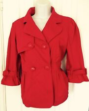 Ladies Red Herring Jacket Raspberry Pink Size 12 Large Buttons Double Breasted