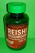 Reishi Hongo Ext Estandarizado 500 mg 100 capsulas Piping Rock