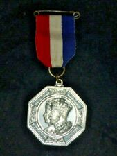 Antique King George V & Queen Mary Silver Jubilee Medal 1935 Middlesex County