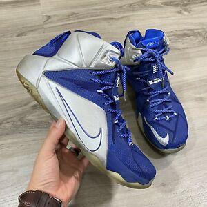 Nike Lebron XII 12 What If Dallas Cowboys Blue Basketball Shoes Mens Size 12
