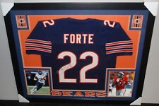 Matt Forte #22 Autographed Custom Framed Jersey  PSA C. O. A.
