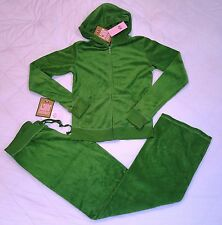 Juicy Couture Terry tracksuit set with top and pants size XL Green