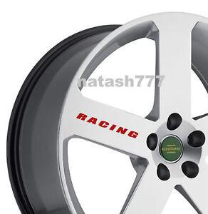 RACING Vinyl Decal Sticker Sport Car Truck SUV Wheels rims emblem Logo Set of 4