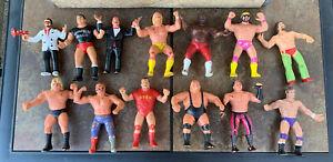 lot of 13 vintage WWF Wrestling Figures LJN 1980's Funk Macho Man Bundy Jim Hart
