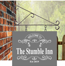Illuminated Custom designed Hanging Pub sign 35cmx28cm bar,stumble inn free P&P