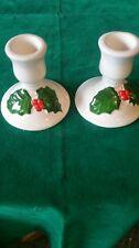 Lillian Vernon Christmas Candle Sticks Holders