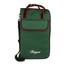 New Green Nylon Zippered Drum Sticks Bag Case for for Sticks/ Brushes/ Mallets